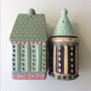 Birdhouses Salt & Pepper Shakers Pastel Icing Look